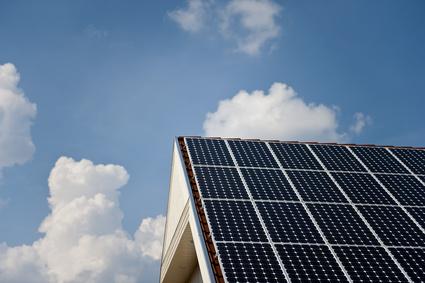 Solardach auf einem Wohnhaus